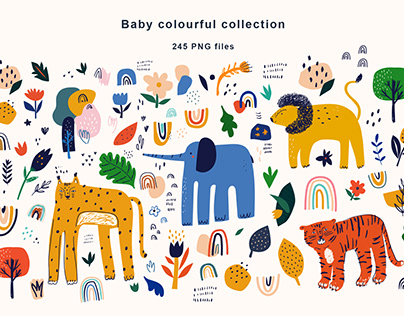Baby colourful collection