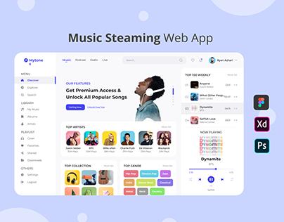 Mytones - Music Streaming Web App