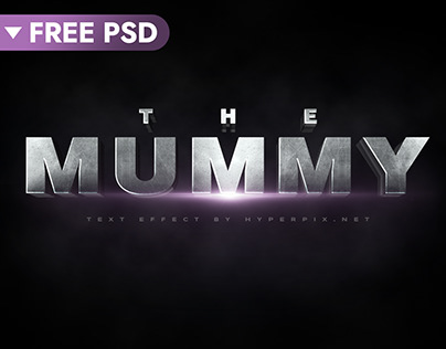 The Mummy Cinematic 3D Text Effect (FREE)