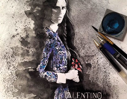 Valentino Inspired Fashionart