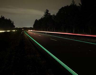 Glowing Lines Smart Highway