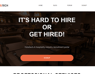 HotelTech - Recruitment Portal (WordPress)