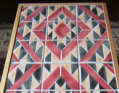 Navajo Rug Design Ceramic Tile Coffee Table