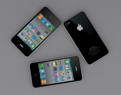 IPhone 4 High Poly in 3D