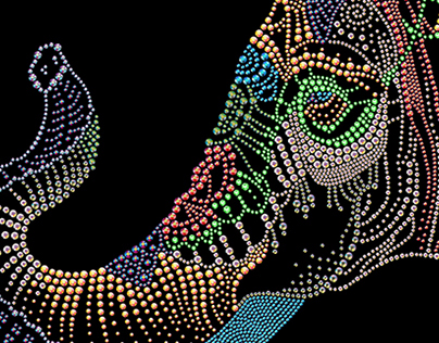 colorful jewellery elephant