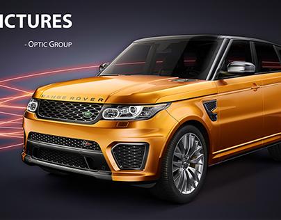 VRED, Range Rover Sport SVR 2015 | CGI & Retouching