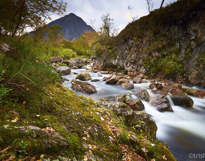 Killin Waterfall, Glen Etive and River Etive