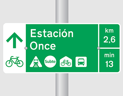 Bicycle Signage Buenos Aires