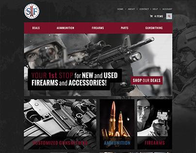 Website Design for 1stStopFirearms