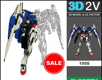 gundam raiser 3d model