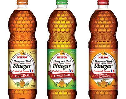 Melfor French Honey & Herb Vinegar Packaging for US