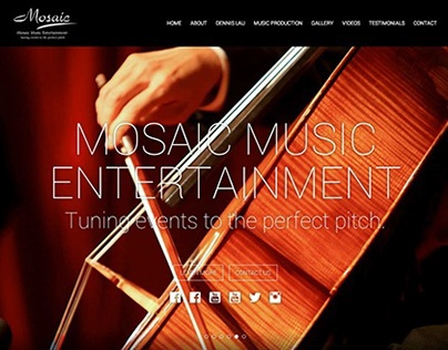 Mosaic Music Production Official Website