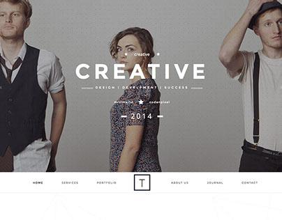 T-One Creative Wordpress Theme by: @WP_Genethic