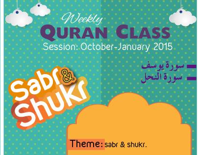 Quran class flyer