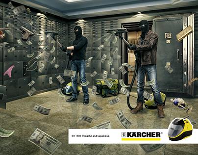 Creative print for the Kärcher company