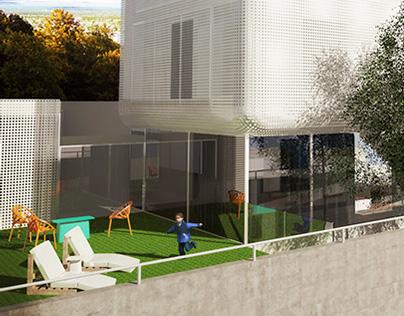 3D vivienda unifamiliar