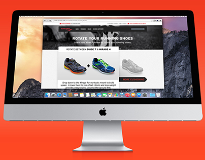 """""""Rotate Your Running Shoes"""" Landing Page"""