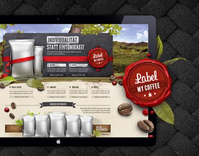 Logodesign & Webdesign: Label my Coffee