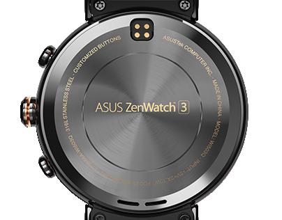 ASUS Zenwatch 3 product rendering