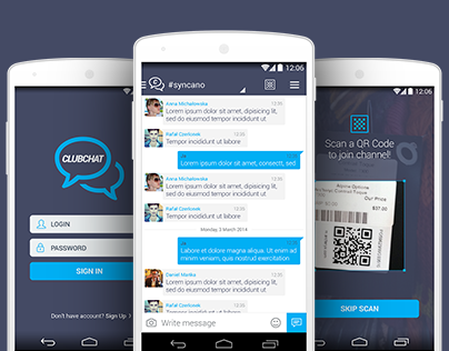 Clubchat mobile application