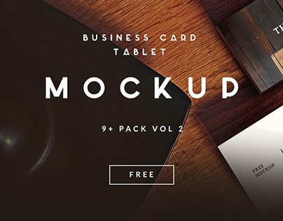 9+ Business Card   TABLET FREE MOCKUP VOL 2 [Download]