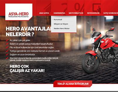 Hero Filo Kiralama Website Tasarımı