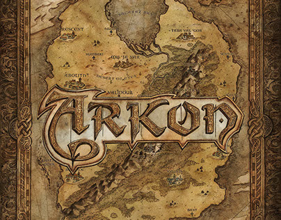 Arkon Game Map and Logo