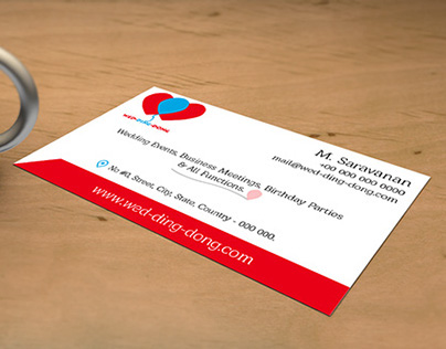 Wed-ding-dong - Business Card & Letter Head