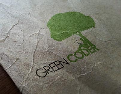Green Coder Logo Design