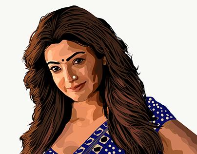 Kajal's vector art