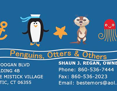 Penguins Otters and Other Business Card
