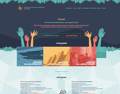 Web design for Volunteer Center
