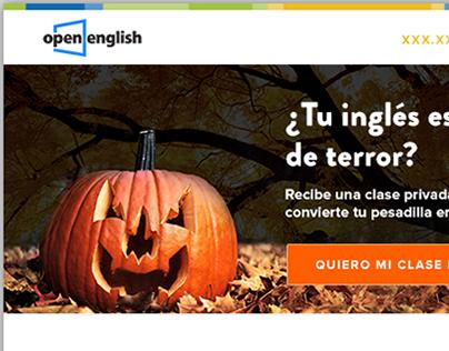 Open English Halloween Promotion