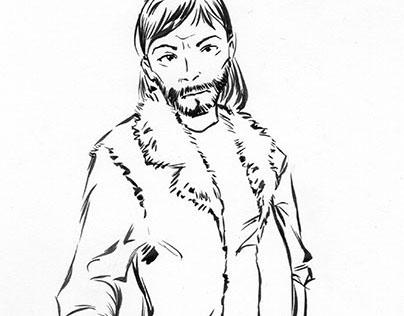 Ink Sketch: Mohair Vest
