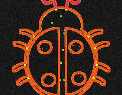neon ladybird
