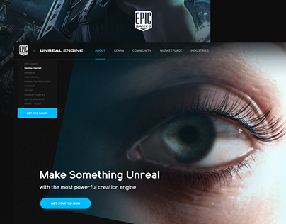 UnrealEngine website re-design
