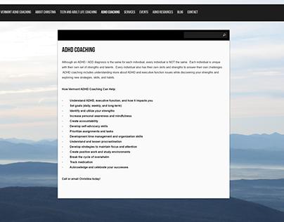 Vermont ADHD Coaching - Wordpress Site