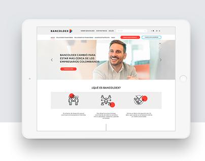 Bancoldex - responsive web design for Colombian Bank.