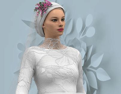 HIJAB WEEDING DRESS - 3D Fashion