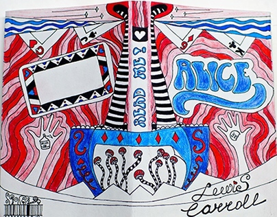 """Alice in Wonderland"" book cover design"