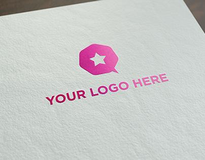 Free realistic logo mock-up!