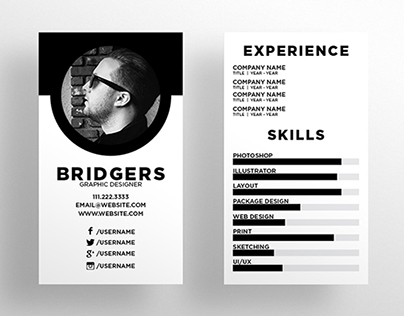 The Resume Business Card Template - $6
