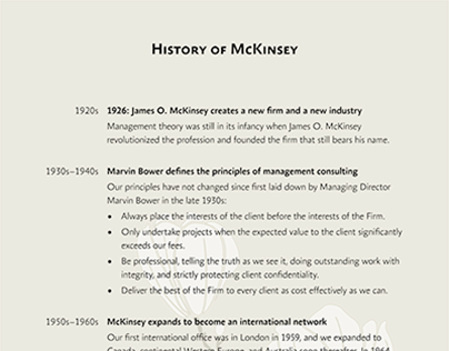 Information boards for McKinsey & Company