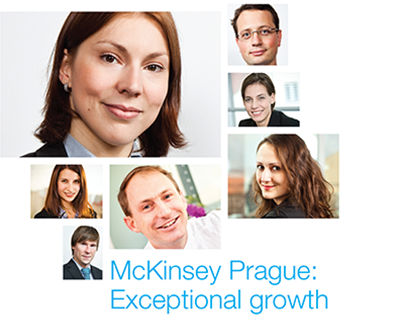 Recruiting brochure for McKinsey & Company in Prague