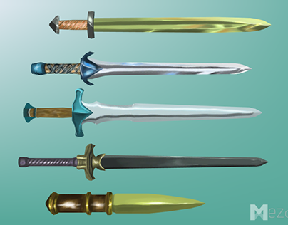 Hand Painted, Low poly Melee Weapons, Nordic