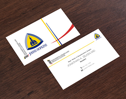 Business Card Design for Johns Hopkins