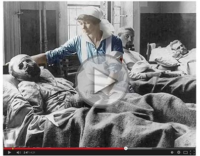 Video of colorisation of First World War photographs