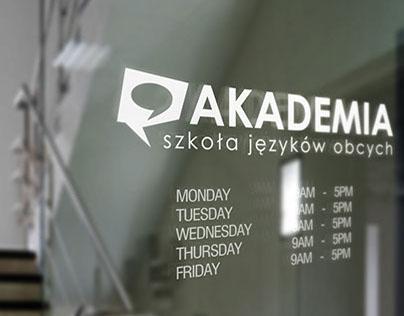 "Logo Language School ""Akademia"" in Ruda Śląska"