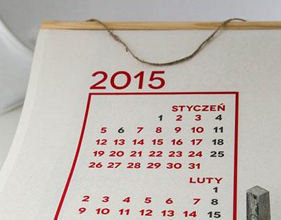 Kalendarz grafika 2015
