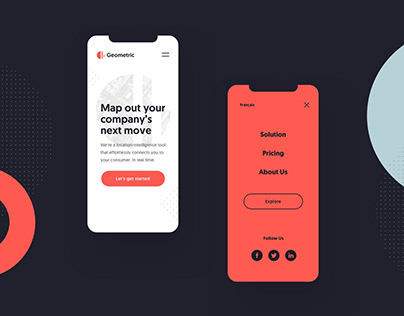 Branding, UI design: Geometric